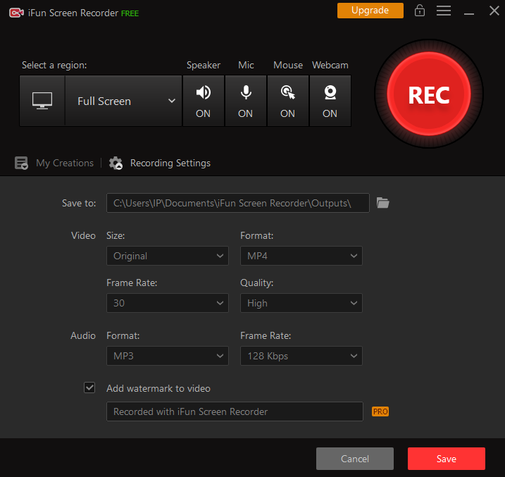 iFun Screen Recorder Overview